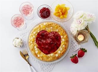 白色情人節限定 達美樂開賣草莓甜心披薩好萌