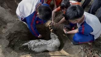 北港國中美術考古課程 挖出國寶級大師泥塑