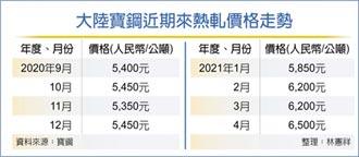 中鋼4月盤價 挑戰十連漲