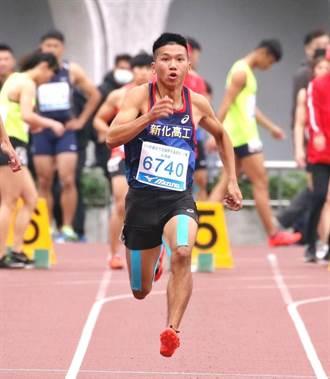 新化高工魏浩倫超會跑 奪青年杯短跑雙料金牌
