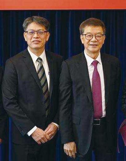 台航董事長劉文慶(右)與總經理仇忠林。圖/業者提供