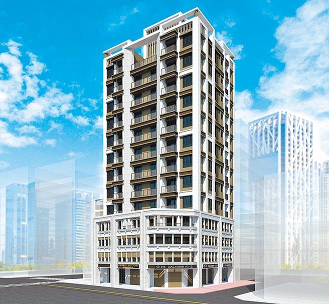 台北市「麗盛建設 南京西路案」示意圖。圖/麗寶集團提供