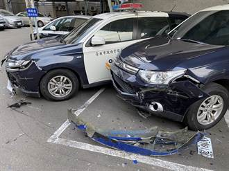 莽男駕奧迪狂撞文山一分局 17輛警用汽機車遭撞毀動機不明