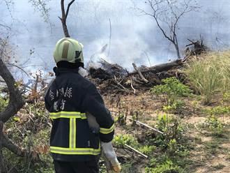 金門珠山靶場外圍火警 濃煙險些影響飛安