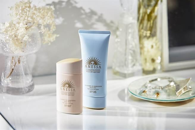 柔光乳敏感肌特效防曬露、水寶貝敏感肌高效防曬凝膠成分溫和,幼兒和敏感肌膚都能安心使用。(圖/品牌提供)
