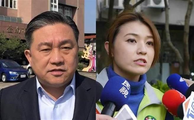 民進黨立委王定宇(左)被拍到與民進黨發言人顏若芳(右)疑似同居,兩人澄清是房東與房客關係。(合成圖/資料照)