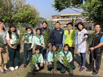 海線贈樹苗鼓勵植樹 要讓學校再現綠色空品旗