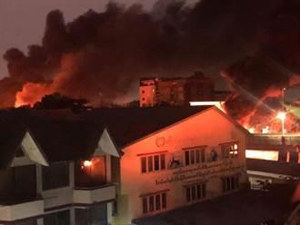 緬甸抗議民眾遷怒中國 仰光多家中資企業遭圍攻縱火