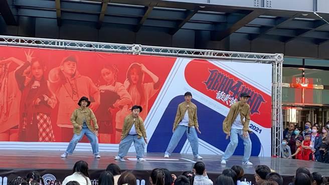 2021 HERO 4 WHO國際街舞大賽14日於台中新光三越舉行台中初賽。(盧金足攝)