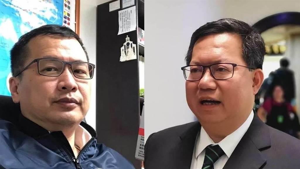 台北市議員羅智強(左)砲轟桃園市長鄭文燦(右)輕諾寡信。(中時資料照)