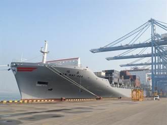 萬海航運3,055TEU新造船 「璀春輪」首航青島港