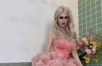 白癡公主挺大胸辣當變裝皇后 頂濃妝太恐怖 一卸妝真實顏值驚人