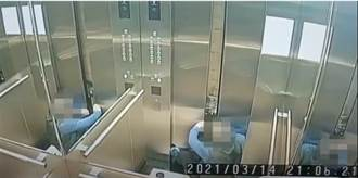 內湖保全墜電梯井慘死 監視畫面曝光 竟因這動作奪命