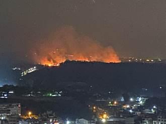 台中烏日大肚山火燒山  大火延燒一度逼近溫泉飯店