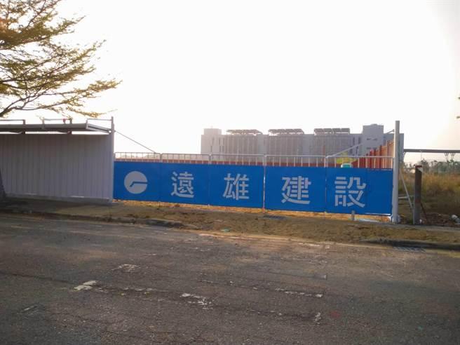 遠雄建設在歸仁區的建案,現場仍是一片荒地,尚未蓋屋。(台南市地政局提供/程炳璋台南傳真)
