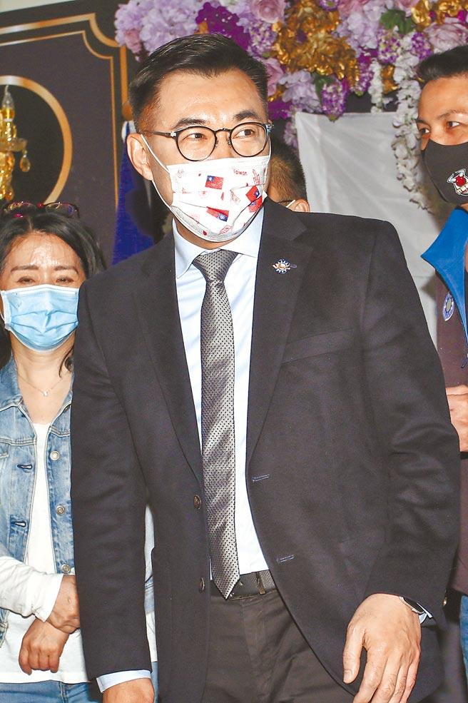 國民黨主席江啟臣,強調國民黨未來的不分區提名,每5人就應提名1名40歲以下的青年。(鄧博仁攝)