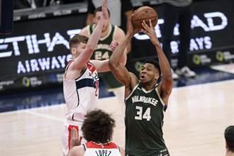 NBA》字母哥大三元 公鹿送給巫師四連敗