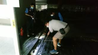 中庭木棧板突冒煙 豐原醫院復健大樓驚傳火警