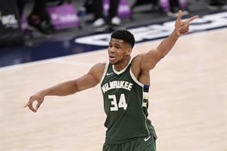 NBA》字母哥連續三場大三元 超越賈霸成公鹿第一人