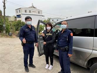 女子聽信導航車受困產業道路   警方及壯漢協助脫困