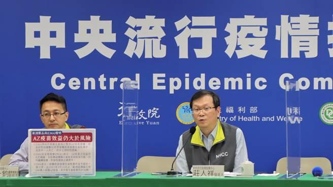 國際頻傳AZ疫苗施打後產生不良副作用,指揮中心表示,今並無新增確診個案,仍召開臨時記者會說明AZ疫苗相關事宜。(資料照/指揮中心提供)