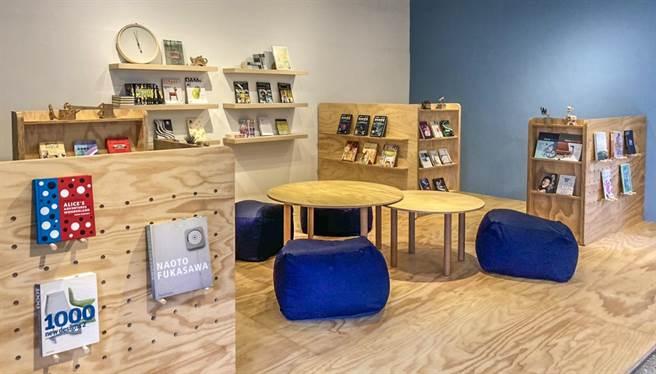 寶山國中莒光分部打造多功能的「紓壓樂讀所」中的「樂讀室」,入選教育部美感實踐計畫。(羅浚濱攝)