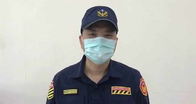 台南市交通大隊長蘇政敏出面說明沒有欺壓、霸凌情事。(曹婷婷攝)