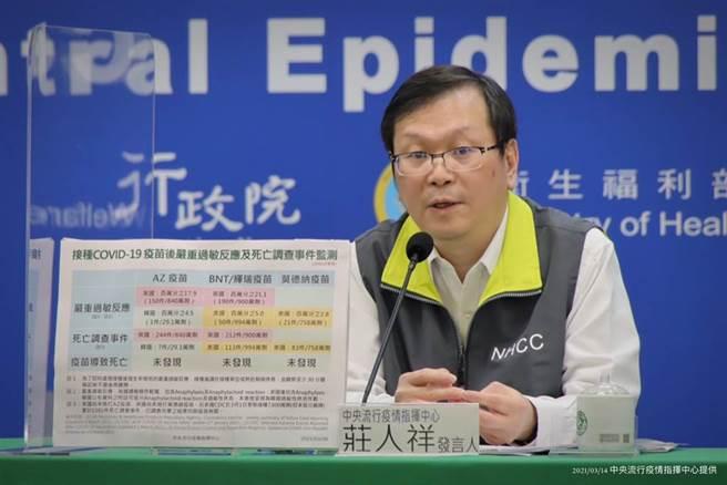 中央流行疫情指揮中心發言人莊人祥。(資料照/指揮中心提供)
