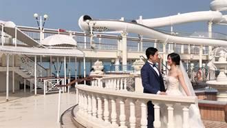 美拍婚紗照 星夢郵輪探索夢號跳島啟航