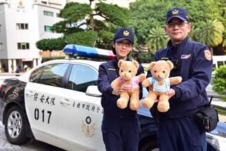 助幼童抒緩情緒  北市警發1250隻熊熊當警車配備