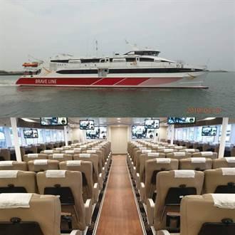 雲豹輪高速客船完成試航 金門疏運增備援船生力軍
