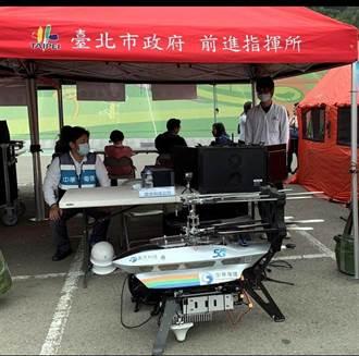 雷虎科技的空中基地台 協防台北市民安7號救災演訓