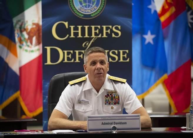 美國印太司令部司令菲力浦.戴維森(Philip S. Davidson)上將,日前出席美國參議院聽證會時警告,大陸原本在10年內統一台灣的威脅,很可能會在未來6年內進行。(圖/美軍印太司令部)