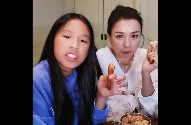 張庭女兒曾拍片反擊網友:不要評論我的長相,我又不是靠臉吃飯!(取自張庭微博)
