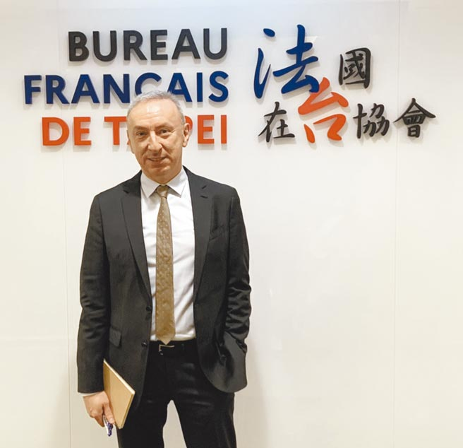 法國在台協會主任公孫孟。(楊孟立攝)
