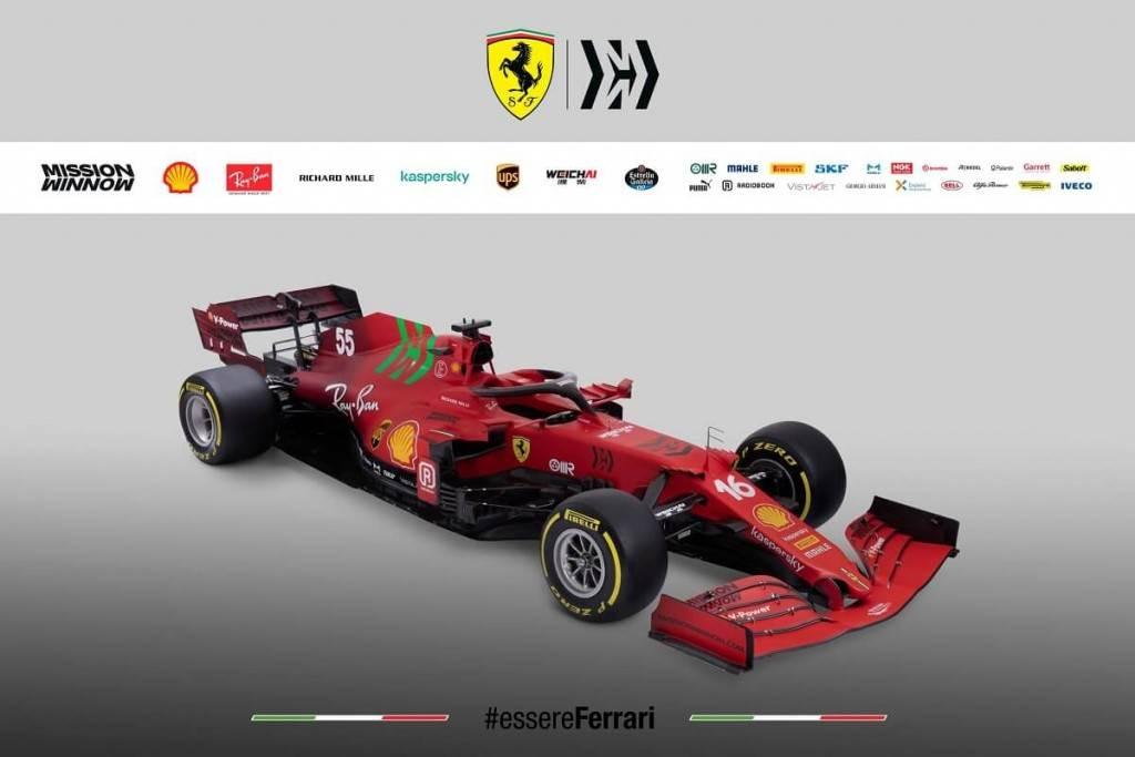 Scuderia Ferrari法拉利F1車隊全新SF21賽車正式亮相