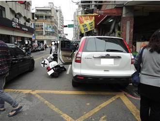 騎士1個月內遭開車門擊落9次 警揭露衰到爆真相