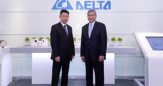 台達電子董事長海英俊(右)、執行長鄭平(左)曾接受專訪,暢談公司發展與未來規劃。(圖/本報資料照片)
