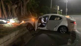 金門小兵酒駕衝撞警車 警猛轟3槍打爆輪胎逮人
