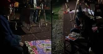 新竹「送肉粽」畫面全揭露!道士開直播解說:封鬼門後由鍾馗送煞