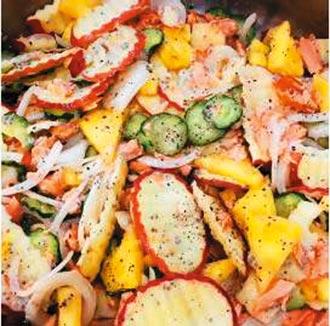 香煎鮭魚優格沙拉