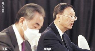 中美對談‧互罵開場-中共中央政治局委員楊潔篪:美方沒有資格居高臨下說話
