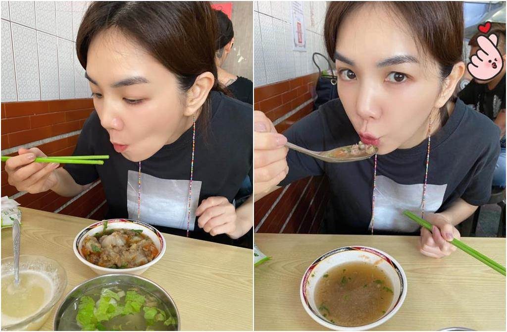 Ella分享蒸肉圓的吃法,掀起網友熱烈討論。(圖/翻攝自臉書)