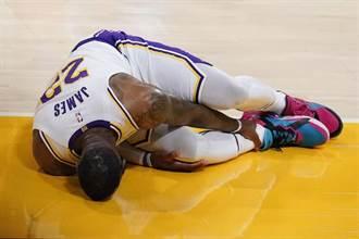 NBA》詹姆斯腳踝被壓傷 罕見痛苦哀嚎