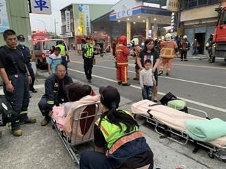 清晨和美民宅火警 消防出動雲梯車救出3大人4小孩