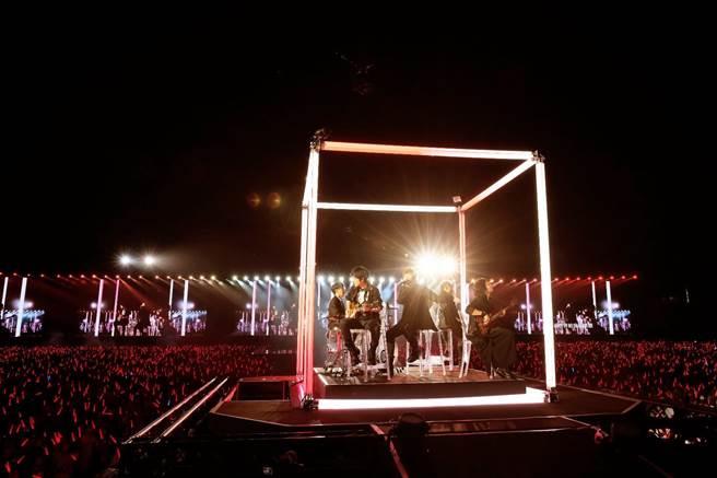 五月天在台南舉辦「好好好想見到你」演唱會。(相信音樂提供)
