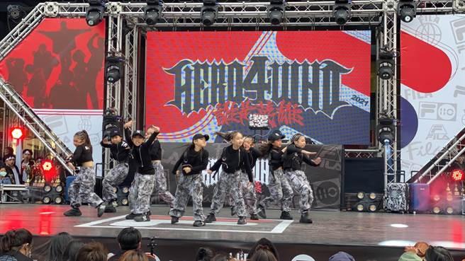 兒童組排舞決賽表演。(台中市政府提供)
