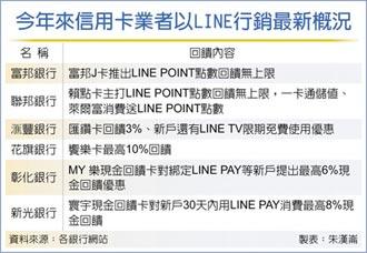 攻社群 信用卡大打LINE行銷