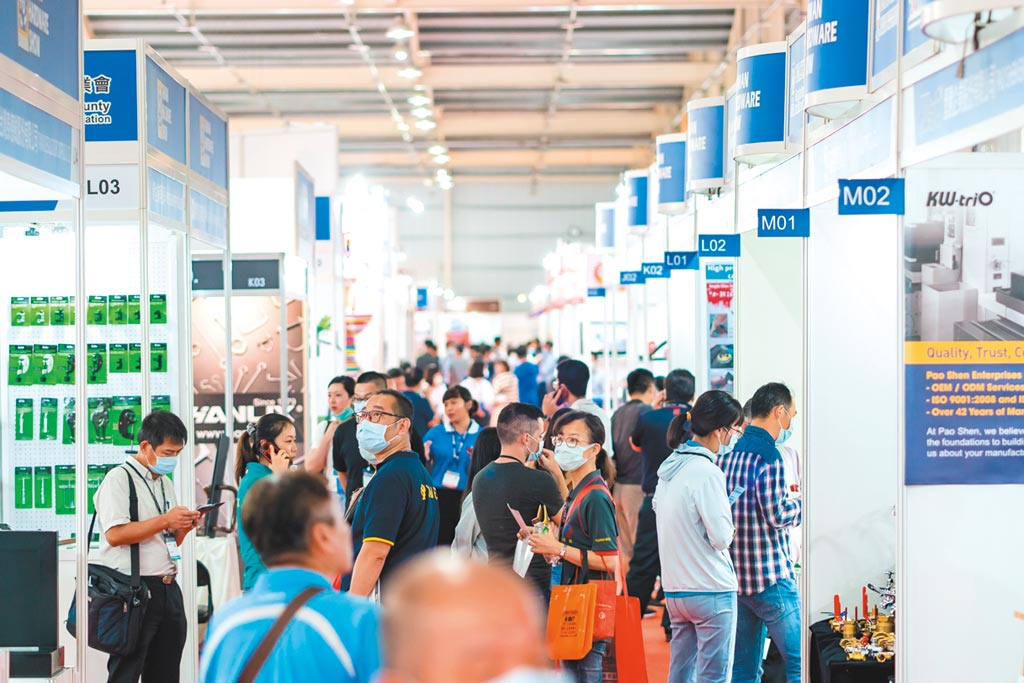 2020年THS台灣五金展,展會盛況。圖/開國提供