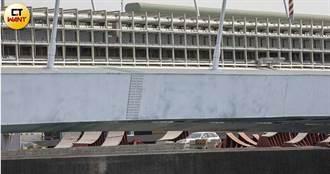 跨海橋偷工3/橋樑防鏽僅一層白漆 鋼材外露螺絲腐蝕嚴重